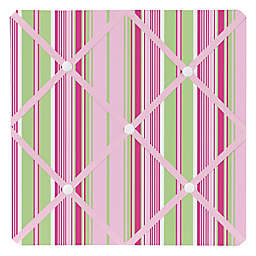 Sweet Jojo Designs Jungle Friends Fabric Memo Board in Stripe Print