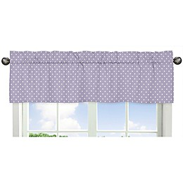 Sweet Jojo Designs Sloane Polka Dot Window Valance in Lavender/White
