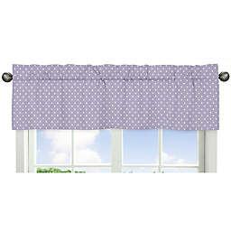 Sweet Jojo Designs Sloane Polka Dot Window Valance in Lavender/White
