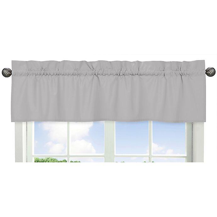 Alternate image 1 for Sweet Jojo Designs® Window Valance in Grey