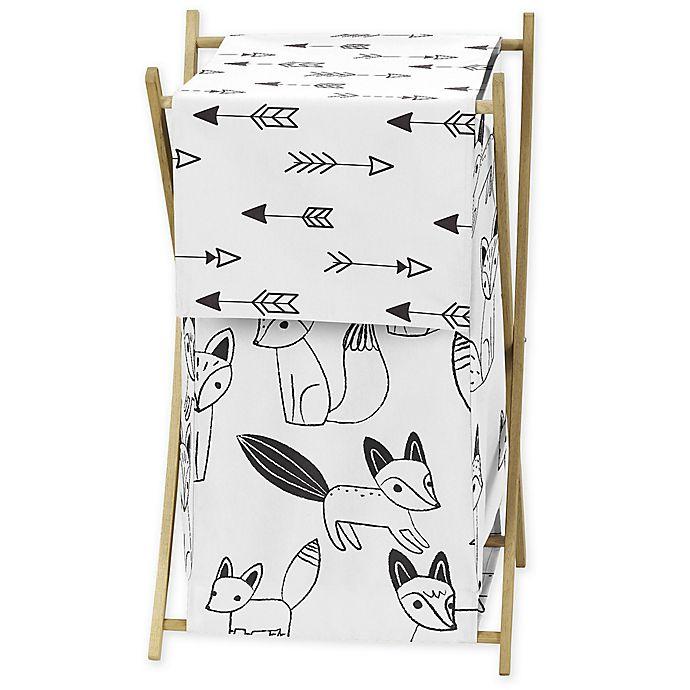 Alternate image 1 for Sweet Jojo Designs® Fox Laundry Hamper in Black/White