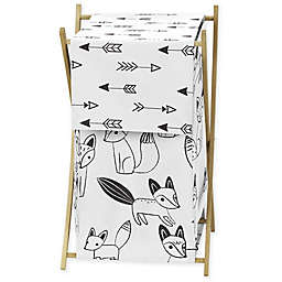 Sweet Jojo Designs® Fox Laundry Hamper in Black/White
