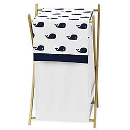 Sweet Jojo Designs® Whale Laundry Hamper in Blue/White