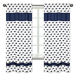 Sweet Jojo Designs® Mini Whale 84-Inch Window Panels in Blue/White (Set of 2)