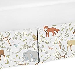 Sweet Jojo Designs Woodland Toile Animal Print Crib Skirt