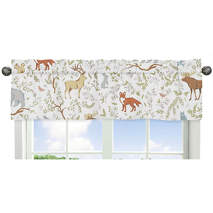 Alternate image 1 for Sweet Jojo Designs Woodland Toile Animal Print Window Valance