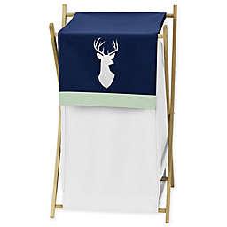 Sweet Jojo Designs Woodsy Laundry Hamper Navy/White