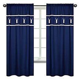 Sweet Jojo Designs Woodsy 84-Inch Window Panels in Navy (Set of 2)