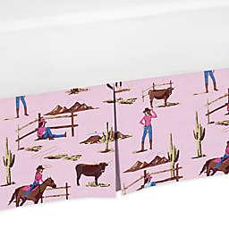 Sweet Jojo Designs® Cowgirl Print Crib Skirt in Pink/Brown