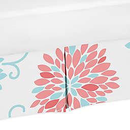 Sweet Jojo Designs® Emma Floral Print Crib Skirt