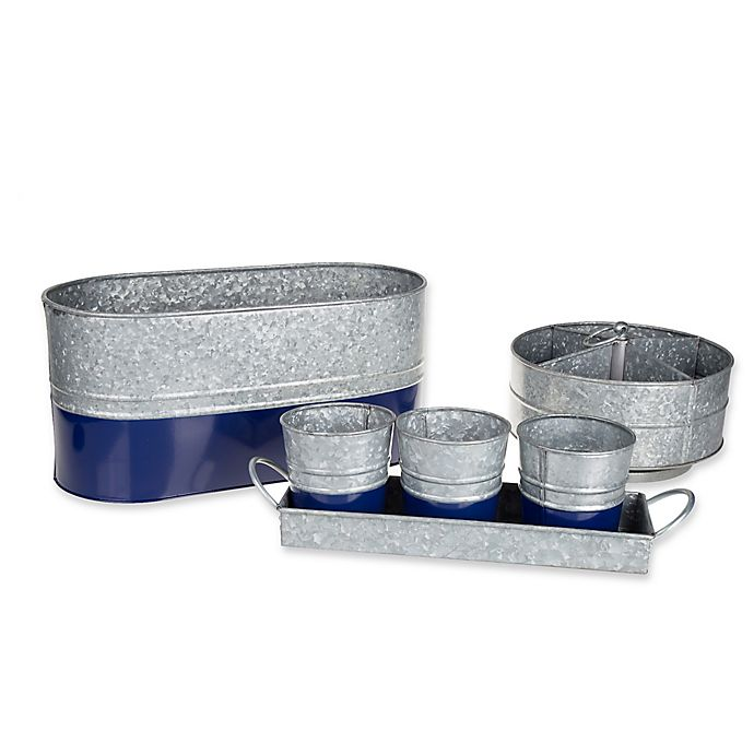Alternate image 1 for Galvanized Steel Serving Collection