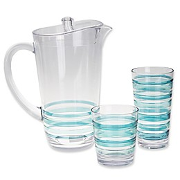 Riviera Striped Drinkware Collection