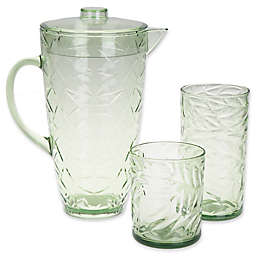 Palm Leaf Drinkware Collection in Green