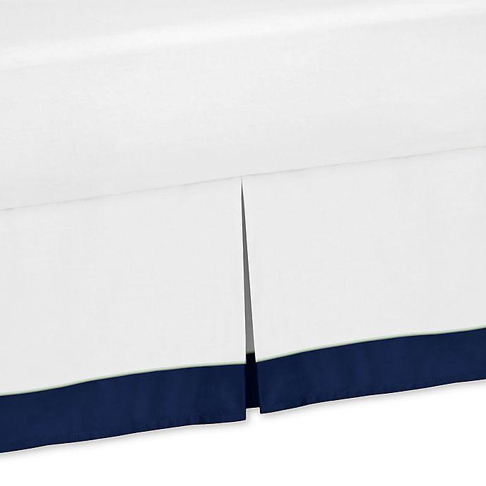 Alternate image 1 for Sweet Jojo Designs Woodsy Twin Bed Skirt in Navy/Mint