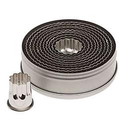 Ateco 11-Piece Fluted Round Cutter Set