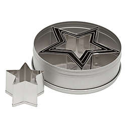 Ateco 6-Piece Stainless Steel  Graduated Star Cookie Cutter Set