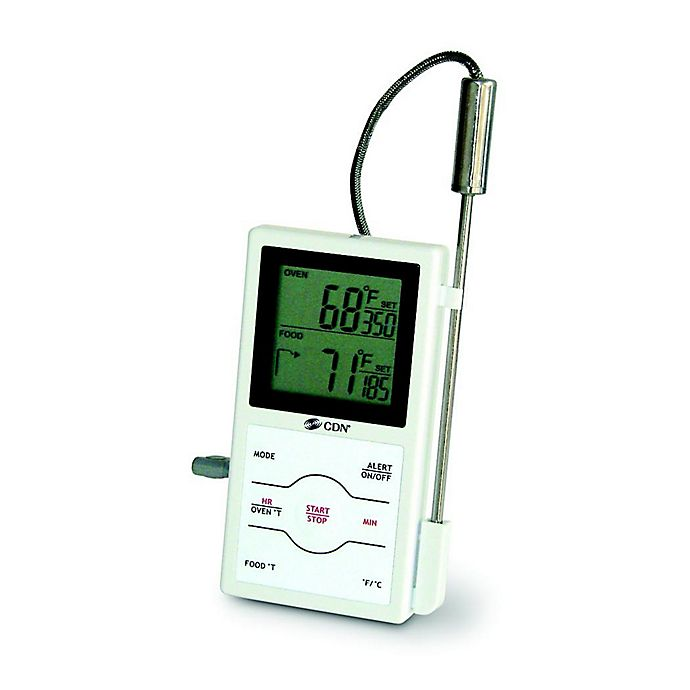 Alternate image 1 for Dual Sensing Probe Thermometer with Timer