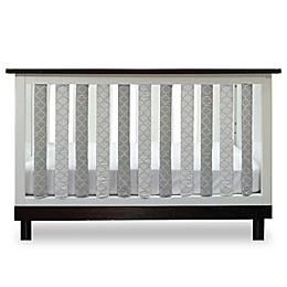 Go Mama Go Designs® Arabesque Vertical Crib Liners in Grey