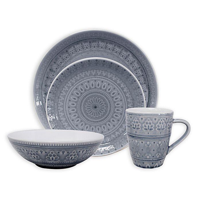 Euro Ceramica Fez 20 Piece Dinnerware Set In Grey Bed Bath Beyond