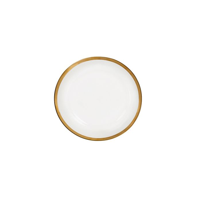 Alternate image 1 for Nevaeh White® by Fitz and Floyd® Grand Rim Wide Band Gold Appetizer Plate