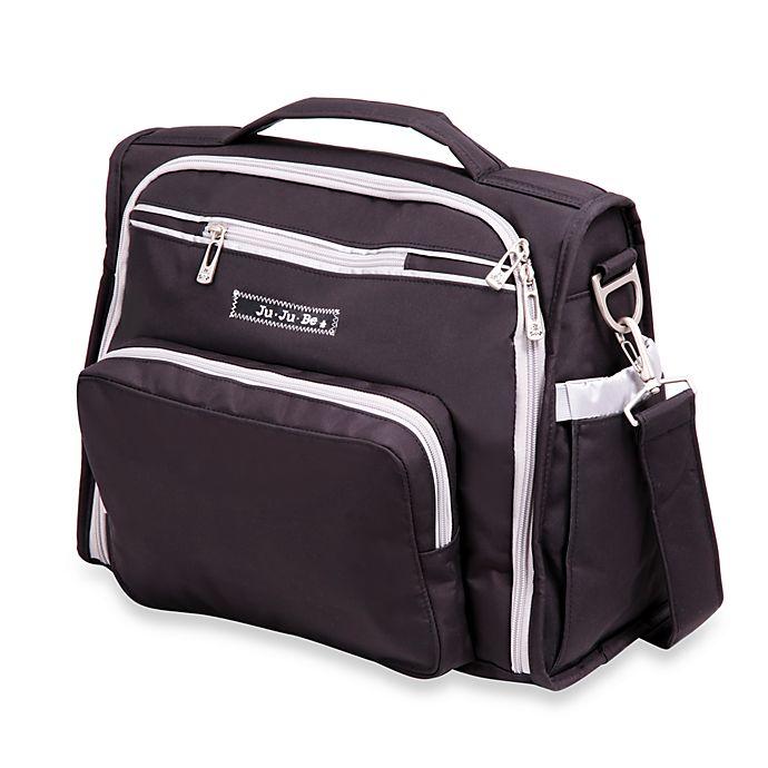 Ju Be B F Diaper Bag In Black Silver