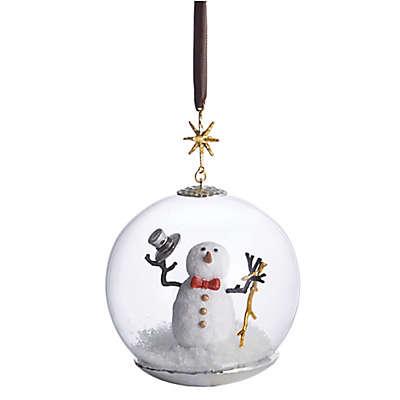 Michael Aram Snowman Snow Globe Christmas Ornament