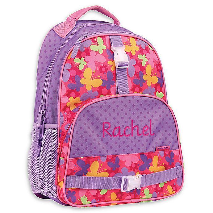 Alternate image 1 for Stephen Joseph® Butterfly All Over Print Sidekick Backpack in Purple