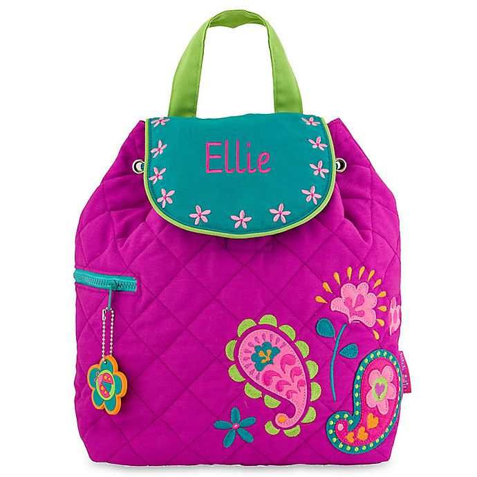Alternate image 1 for Stephen Joseph® Paisley Quilted Backpack in Purple