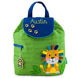 Stephen Joseph® Lion Quilted Backpack in Green