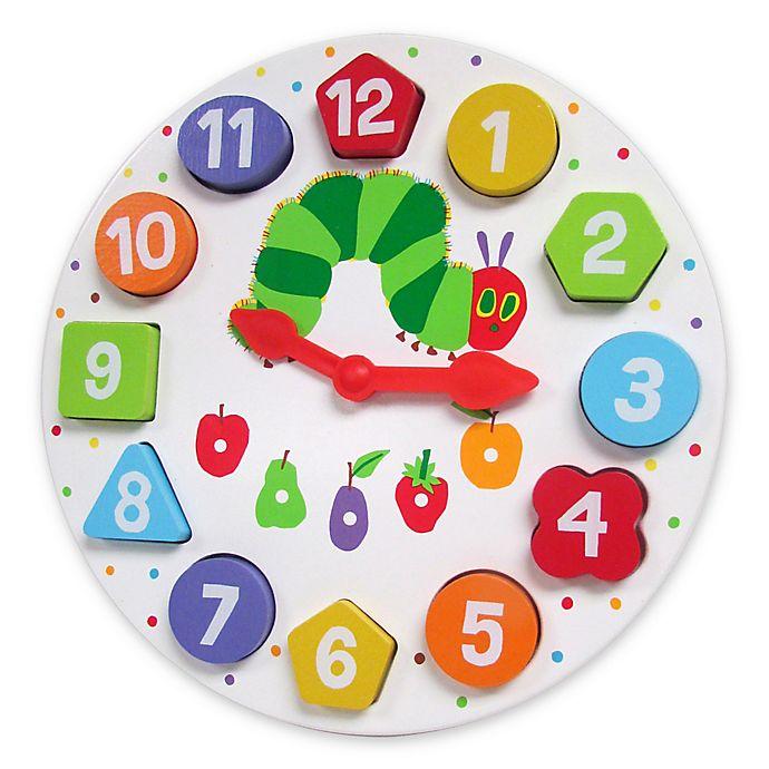 Alternate image 1 for Eric Carle™ Wood Teaching Clock