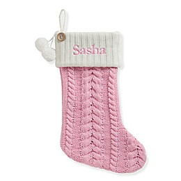 Personalized Planet Cable Knit Stocking