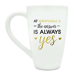 "Pearhead ""At Grandma's the Answer is Always Yes"" Mug in White"