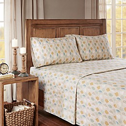 True North by Sleep Philosophy Cozy Flannel Leaves Sheet Set