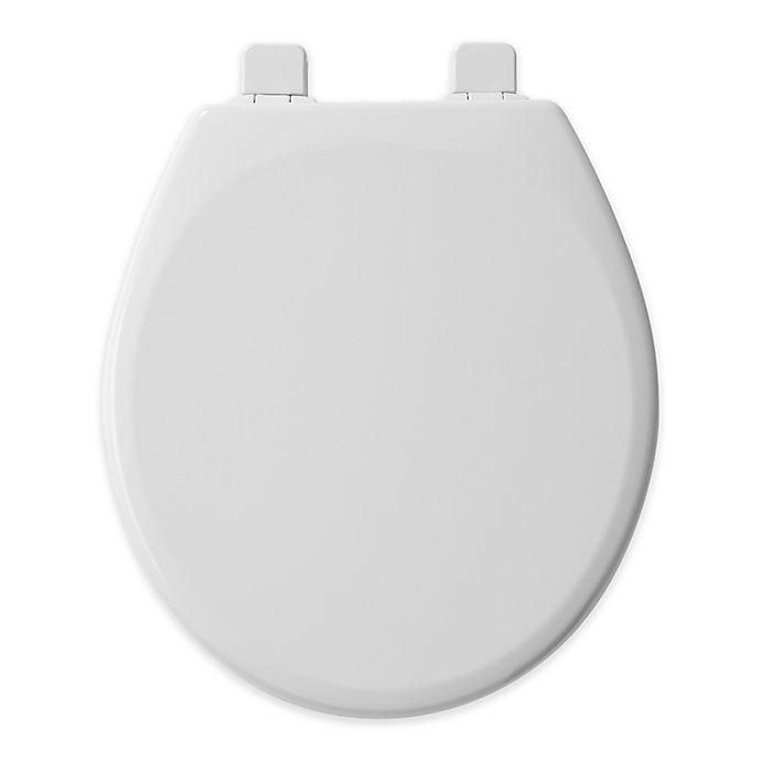 Peachy Mayfair Round Front Molded Wood Toilet Seat In White Bed Machost Co Dining Chair Design Ideas Machostcouk