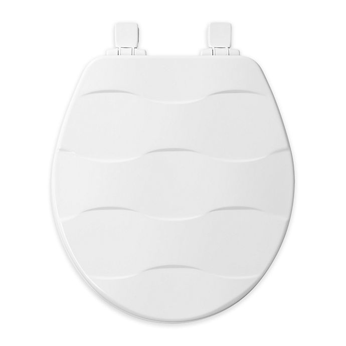 Alternate image 1 for Mayfair Elongated Front Molded Wood Toilet Seat in White