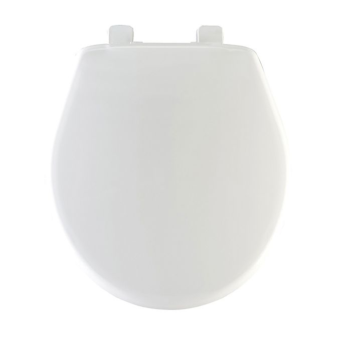 Alternate image 1 for Mayfair Round Closed Front Plastic Toilet Seat with Whisper Close in White