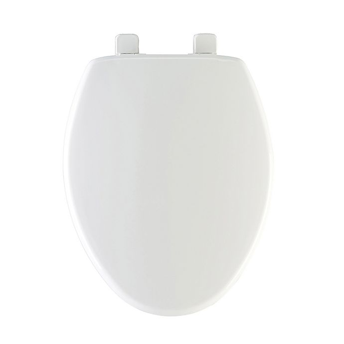 Alternate image 1 for Mayfair Elongated Closed Front Plastic Toilet Seat with Whisper Close in White