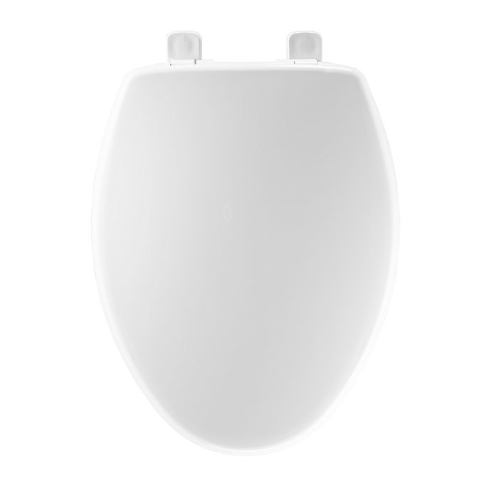 Alternate image 1 for Mayfair Elongated Closed Front Plastic Toilet Seat in White