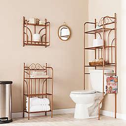 Southern Enterprises 3-Piece Scroll Bath Set in Warm Copper