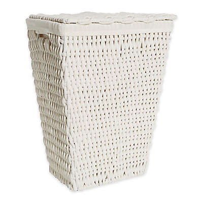 LaMont Home Amelia Hamper in White/White