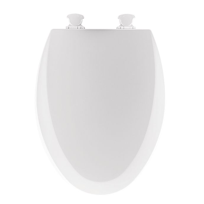 Alternate image 1 for Mayfair Elongated Molded Wood Open Front Toilet Seat in White
