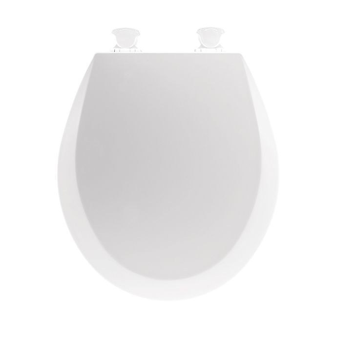 Alternate image 1 for Mayfair Round Molded Wood Open Front Toilet Seat in White
