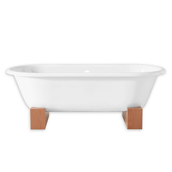 Alternate image 1 for Cheviot Regal 68-Inch Roll Rim Cast Iron Bathtub with Wooden Base