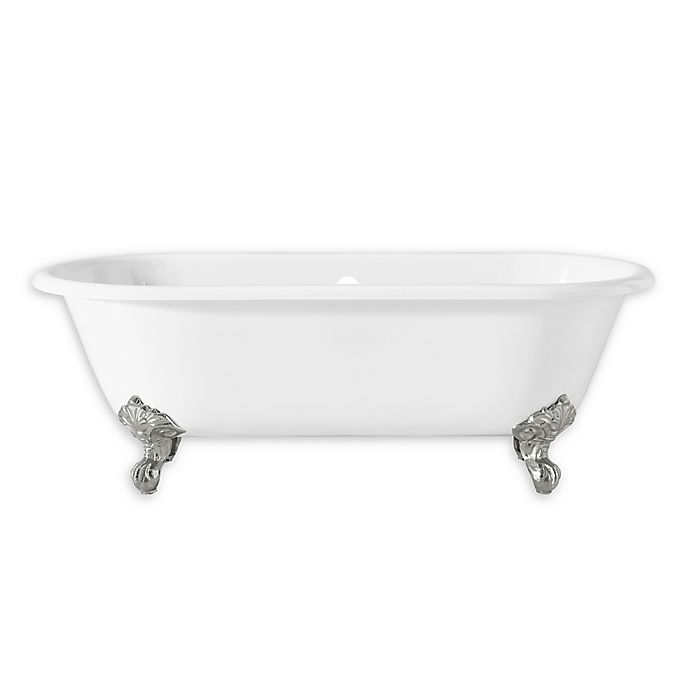 Alternate image 1 for Cheviot Regal 61-Inch Roll Rim Bathtub with Iron Clawfoot Legs in White/Chrome