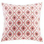 Echo™ Sterling Quatrefoil Square Throw Pillow in Coral
