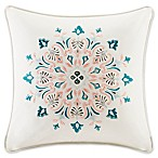 Echo™ Sterling Floral Medallion Embroidered Square Throw Pillow in Beige