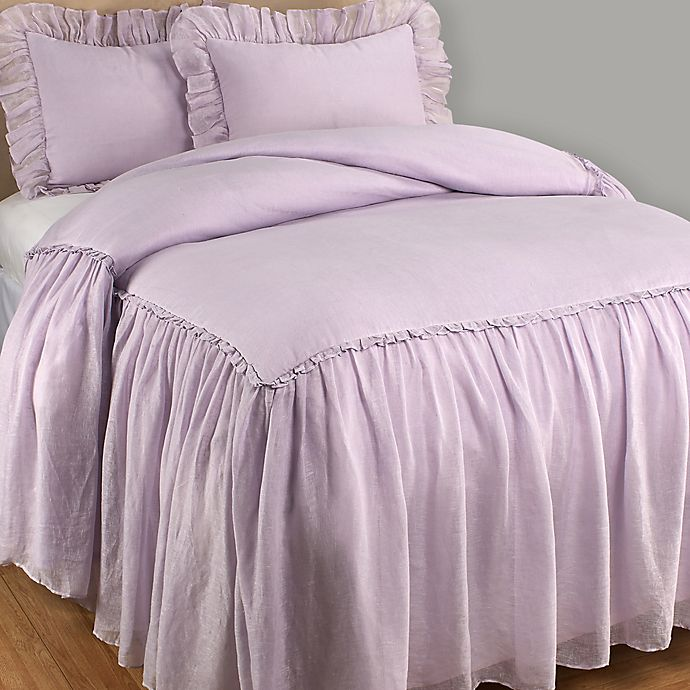 Alternate image 1 for Wamsutta® Vintage Skirted Twin Bedspread in Lilac