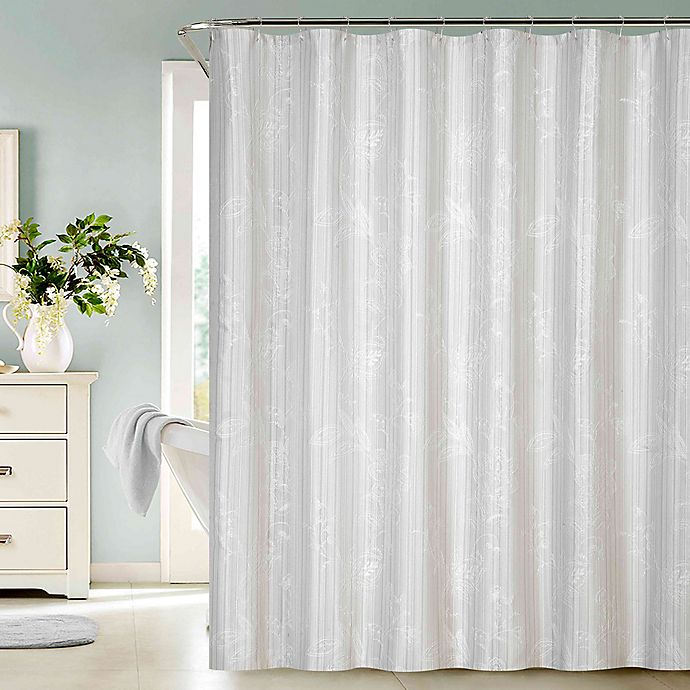 Dainty Home Clara Embroidered Shower Curtain