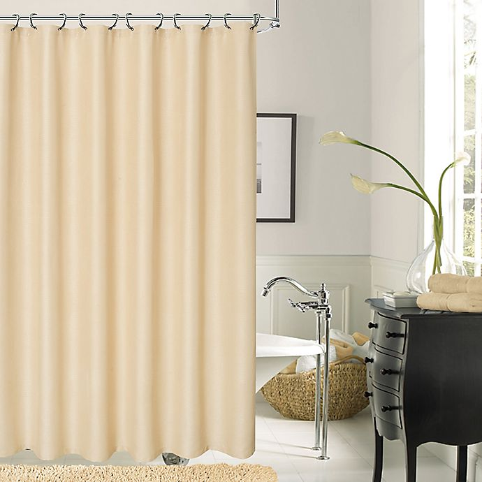 Alternate image 1 for Dainty Home Crocodile Shower Curtain in Ivory