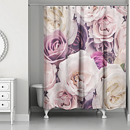 Designs Direct Romantic Blooms Shower Curtain